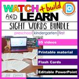 RTI   Kindergarten & First Grade Sight Word Fluency BUNDLE   Videos + Printables