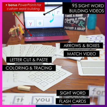 RTI | Kindergarten & First Grade Sight Word Fluency BUNDLE | Videos + Printables