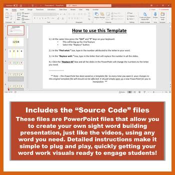 Sight Words Bundle: Videos, Flash Cards & Printables - Blended Learning - LVL. 2