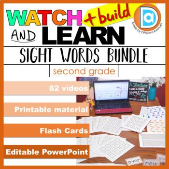 RTI | Second Grade Sight Word Fluency BUNDLE | Videos + Printables