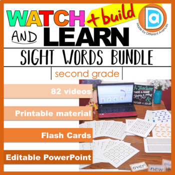 Sight Word Multimodal Learning Bundle | Differentiation & Intervention | Second
