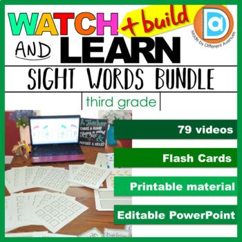 Level 3 Sight Word MEGA BUNDLE: Videos + Printables - cut, color, paste, & trace