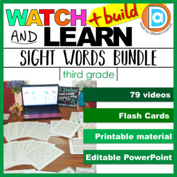 Sight Word Intervention | Multimodal Learning Bundle | 3rd Grade Differentiation