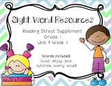 Reading Street Sight Word Games and Activities - Unit 4 Week 1