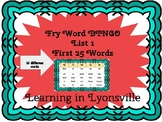 Sight Word Review BINGO for Fry List 1