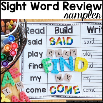 Sight Word Review Sampler Free