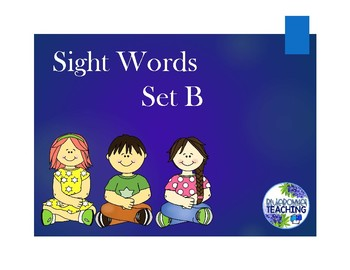 Sight Word Review - Set B
