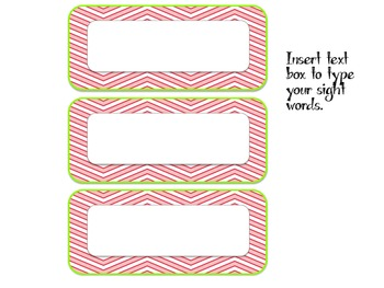 Word Wall Ribbons