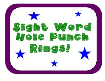 Sight Word Ring Cards