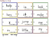 Sight Word-Ring Word Cards