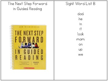 Sight Word Rings- List B