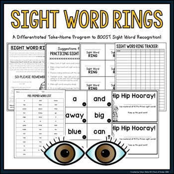 Sight Word Rings • A Differentiated Take-Home Program