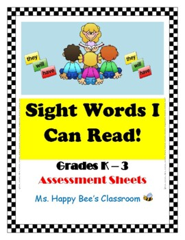 Sight Word Rings & Assessment Sheets BUNDLE