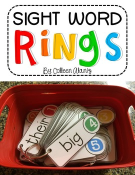 Sight Word Rings (Editable)