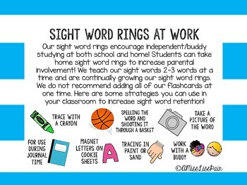 /Sight Word Rings: Set 1/