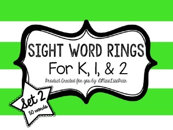 /Sight Word Rings: Set 2/