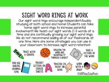 /Sight Word Rings: Set 2/