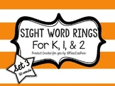 /Sight Word Rings: Set 3/