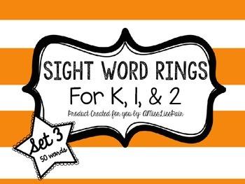 /Sight Word Rings: Set 3/