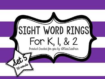 /Sight Word Rings: Set 5/