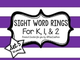 /Sight Word Rings: Set 5/