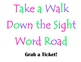 Sight Word Road