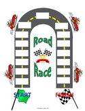 Sight Word Road Race Game (Customizable Blank Board)
