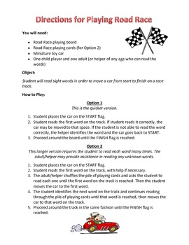 Sight Word Road Race Game (Dolch Third Grade Sight Words)