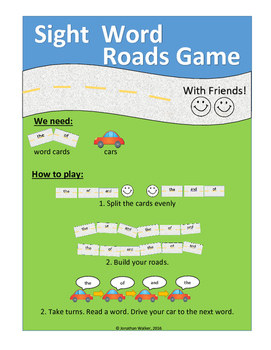 Sight Word Roads Game (500 word mega pack)