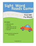 Sight Word Roads Game (500 word mega pack)