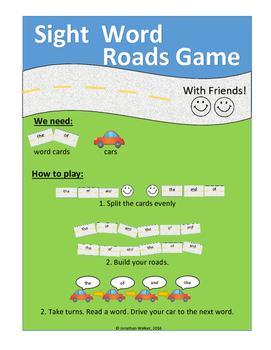 Sight Word Roads Game (Set 3)