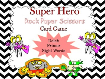 Sight Word Rock Paper Scissors Card Game!  (Dolch Primer)
