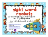 Sight Word Rockets: building, reading & writing sight word