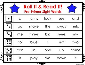 Sight Word Roll It! Read It!: Pre Primer - 3rd Grade