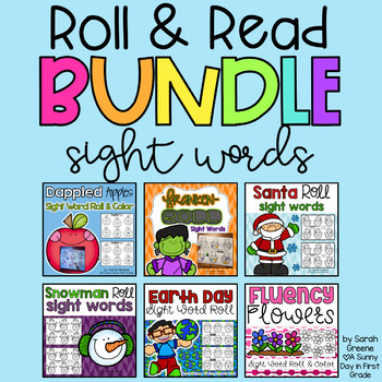 Sight Word Roll & Read BUNDLE!