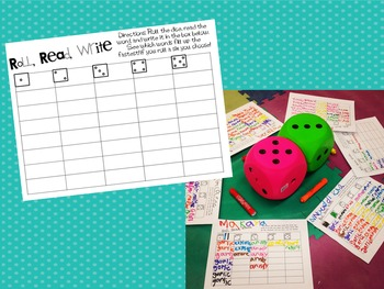 Sight Word Roll, Read, and Write (Editable)