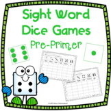 Sight Word Dice Games - Pre-Primer FULL Pack