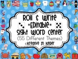 Sight Word Roll & Write *Editable* Center for All Year!