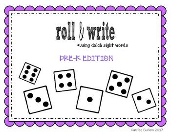 Sight Word Roll & Write- PreK