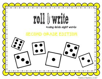 Sight Word Roll & Write- Second Grade