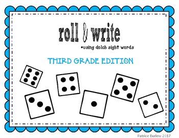 Sight Word Roll & Write- Third Grade