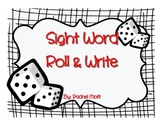 Sight Word Roll & Write