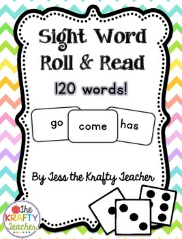 Sight Word Roll & Read - Fun, Engaging, Activity Kindergarten, 1st, 2nd!