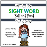 Sight Word Roll and Read Activity | Literacy Center Game