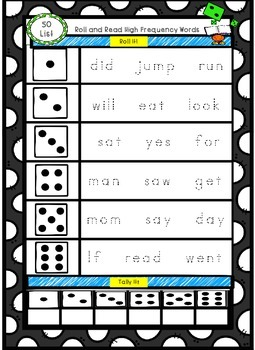 Fountas and Pinnell High Frequency Word  Roll and Read- Complete Set!