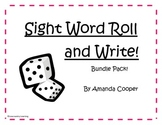 Sight Word Roll and Write Bundle Pack!