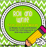 Sight Word Roll and Write {Fry Words 1-200}