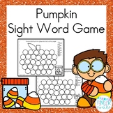Sight Word Roll and Write Pumpkin