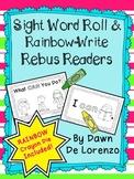 Sight Word Roll 'n' Rainbow-Write REBUS Reader {I can...}