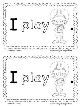Sight Word Roll 'n' Rainbow-Write REBUS Reader {I play...}